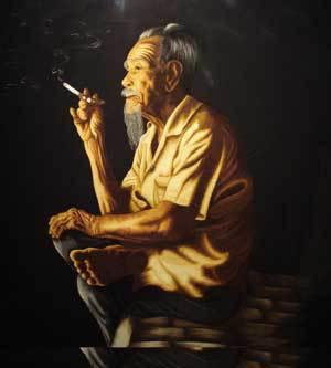 Mọi sinh hoạt như ngừng lại từ lúc các bạn cố tri lần lượt ra đi, cha tôi tiếp tục sống trong tuổi già quên lãng. Ngày ngày, ngồi tự vấn sự đời vẩn vơ… ( hình: bodephatquoc.com)