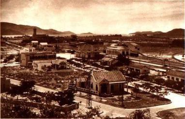 Khu vực tòa hành chính Pháp ngày xưa tại Nha trang, nay là công viên Yến Phi. Ảnh do BS Yersin chụp ảnh khoảng năm 1932.
