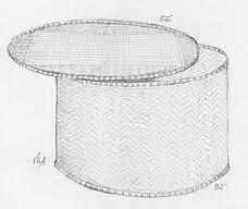 Bồ và sề, dùng để sấy thực phẩm trong mùa mưa